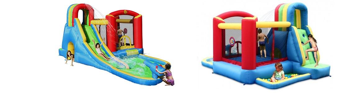 Slide Happy Hop springkussen Splash Wave Zone 9047N Actie!